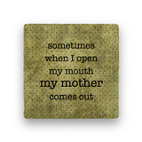 Open My Mouth-Polka Spots-Paisley & Parsley-Coaster