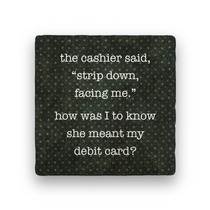 Strip Down-Polka Spots-Paisley & Parsley-Coaster