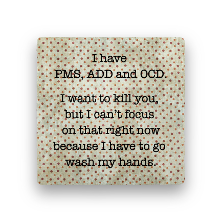 PMS OCD ADD-Polka Spots-Paisley & Parsley-Coaster