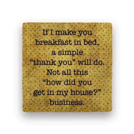 Breakfast in Bed-Polka Spots-Paisley & Parsley-Coaster