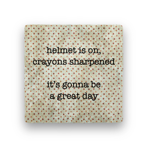 Helmet On-Polka Spots-Paisley & Parsley-Coaster