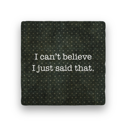 Can't Believe-Polka Spots-Paisley & Parsley-Coaster