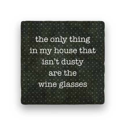 Wine Glasses-Polka Spots-Paisley & Parsley-Coaster