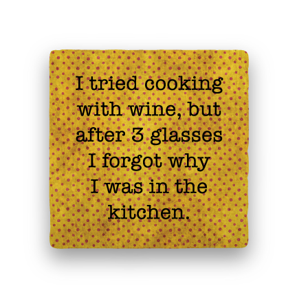 Cooking with Wine-Polka Spots-Paisley & Parsley-Coaster