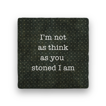 Stoned I Am-Polka Spots-Paisley & Parsley-Coaster