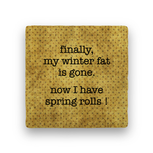 Spring Rolls-Polka Spots-Paisley & Parsley-Coaster