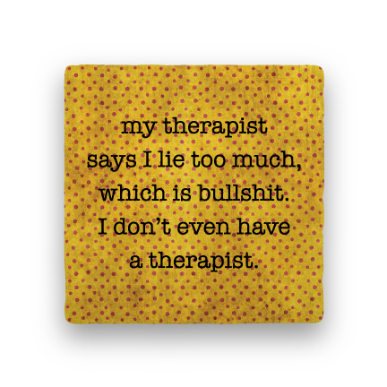 Therapist-Polka Spots-Paisley & Parsley-Coaster