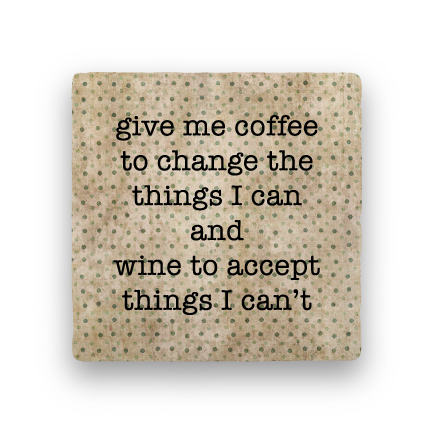 Coffee and Wine-Polka Spots-Paisley & Parsley-Coaster