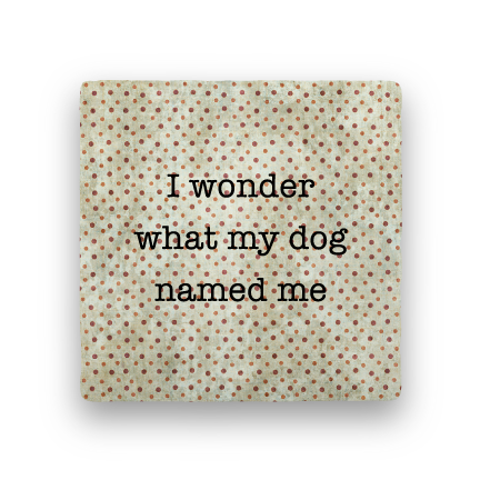 Dog Named Me-Polka Spots-Paisley & Parsley-Coaster
