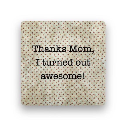 Thanks Mom-Polka Spots-Paisley & Parsley-Coaster