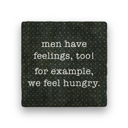 Men Have Feelings-Polka Spots-Paisley & Parsley-Coaster
