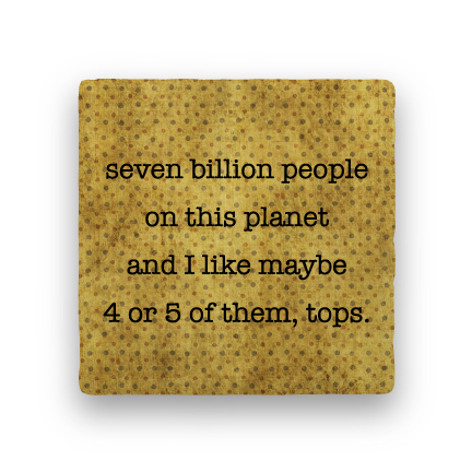 Billion People-Polka Spots-Paisley & Parsley-Coaster