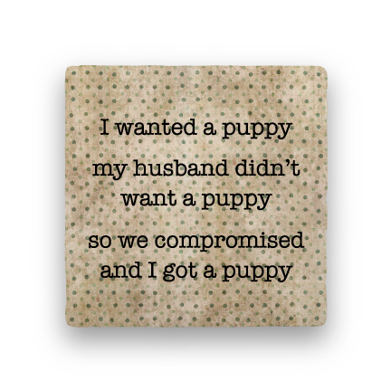 Puppy-Polka Spots-Paisley & Parsley-Coaster