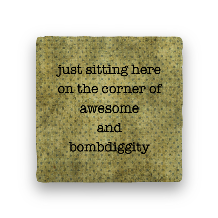 Bombdiggity-Polka Spots-Paisley & Parsley-Coaster