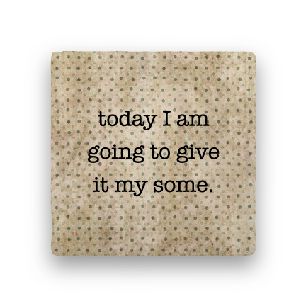 Give It My Some-Polka Spots-Paisley & Parsley-Coaster