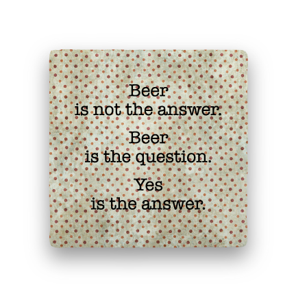 Yes Is the Answer-Polka Spots-Paisley & Parsley-Coaster