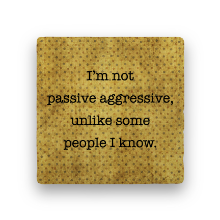 Passive Aggressive-Polka Spots-Paisley & Parsley-Coaster