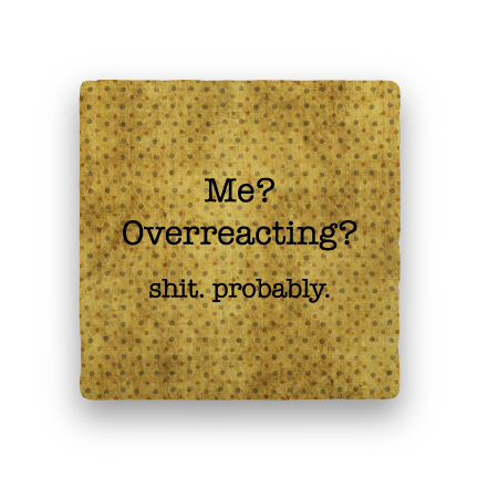 Overreacting-Polka Spots-Paisley & Parsley-Coaster