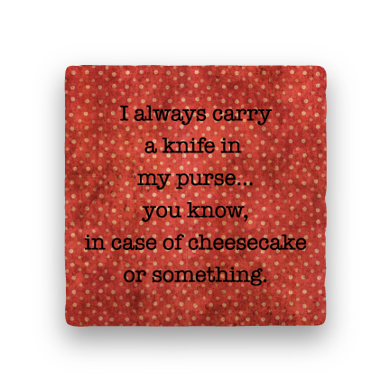 Carry a Knife-Polka Spots-Paisley & Parsley-Coaster