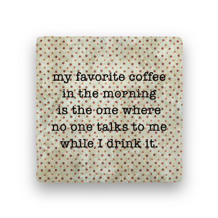 Favorite Coffee-Polka Spots-Paisley & Parsley-Coaster