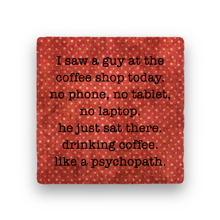 Psychopath-Polka Spots-Paisley & Parsley-Coaster
