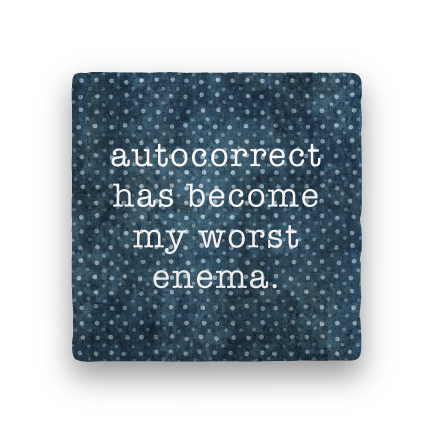 Autocorrect-Polka Spots-Paisley & Parsley-Coaster