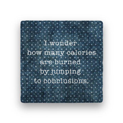Jumping to Conclusions-Polka Spots-Paisley & Parsley-Coaster