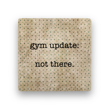 Gym Update-Polka Spots-Paisley & Parsley-Coaster