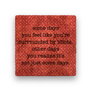 Idiots-Polka Spots-Paisley & Parsley-Coaster