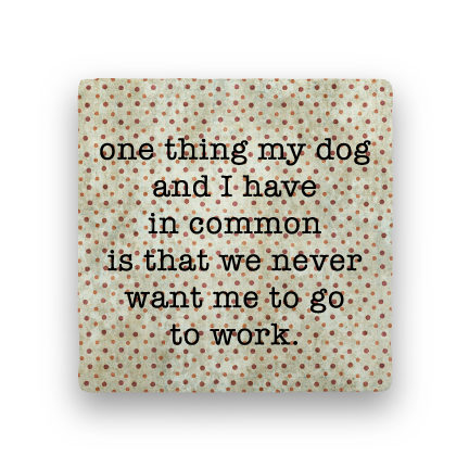 Go to Work-Polka Spots-Paisley & Parsley-Coaster