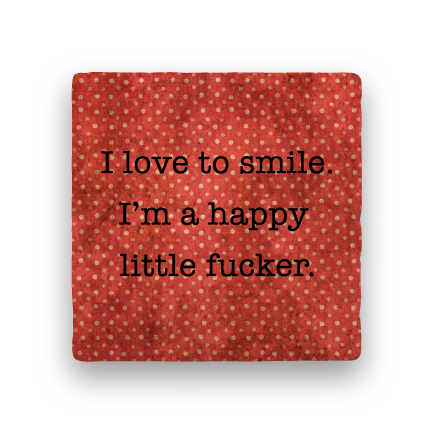 Smile-Polka Spots-Paisley & Parsley-Coaster