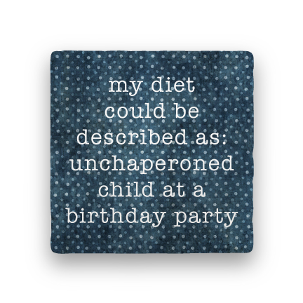 Unchaperoned-Polka Spots-Paisley & Parsley-Coaster