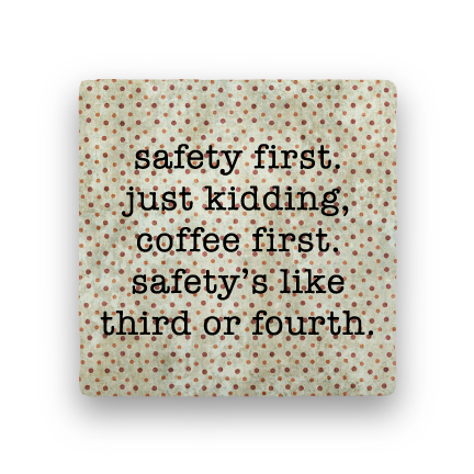 Safety First-Polka Spots-Paisley & Parsley-Coaster