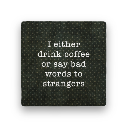 Bad Words-Polka Spots-Paisley & Parsley-Coaster