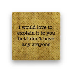 Crayons-Polka Spots-Paisley & Parsley-Coaster