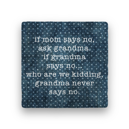 Ask Grandma-Polka Spots-Paisley & Parsley-Coaster