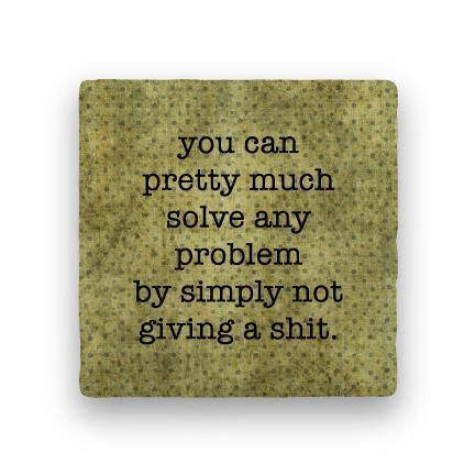 Solve Any Problem-Polka Spots-Paisley & Parsley-Coaster