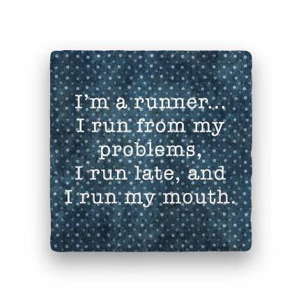 I'm a Runner-Polka Spots-Paisley & Parsley-Coaster