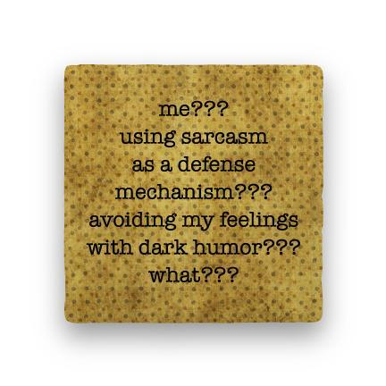 Sarcasm-Polka Spots-Paisley & Parsley-Coaster