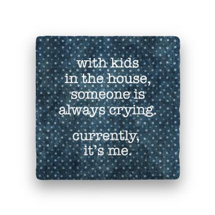 Kids in the House-Polka Spots-Paisley & Parsley-Coaster