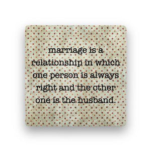 Marriage-Polka Spots-Paisley & Parsley-Coaster