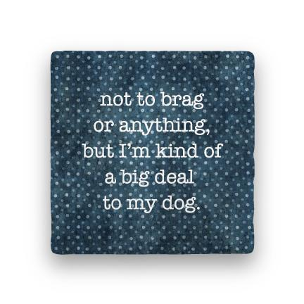 Big Deal - Dog-Polka Spots-Paisley & Parsley-Coaster