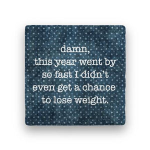Lose Weight-Polka Spots-Paisley & Parsley-Coaster