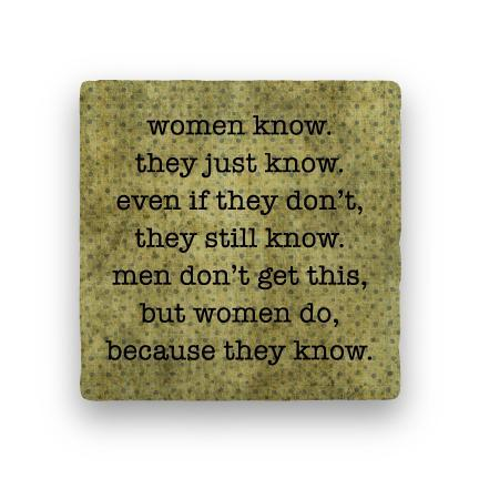 Women Know-Polka Spots-Paisley & Parsley-Coaster