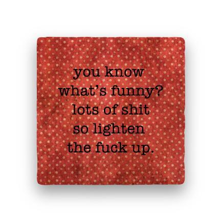 What's Funny-Polka Spots-Paisley & Parsley-Coaster