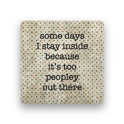 Too Peopley-Polka Spots-Paisley & Parsley-Coaster