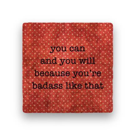 Badass-Polka Spots-Paisley & Parsley-Coaster