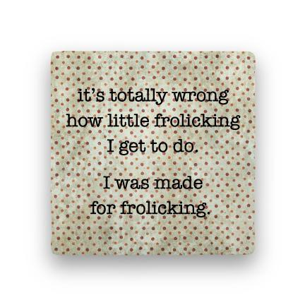 Frolicking-Polka Spots-Paisley & Parsley-Coaster