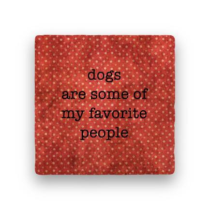 Dogs Favorite People-Polka Spots-Paisley & Parsley-Coaster