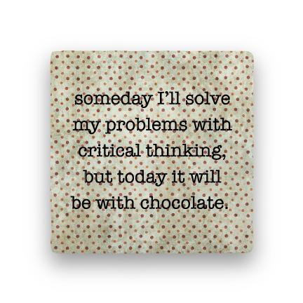 Critical Thinking-Polka Spots-Paisley & Parsley-Coaster